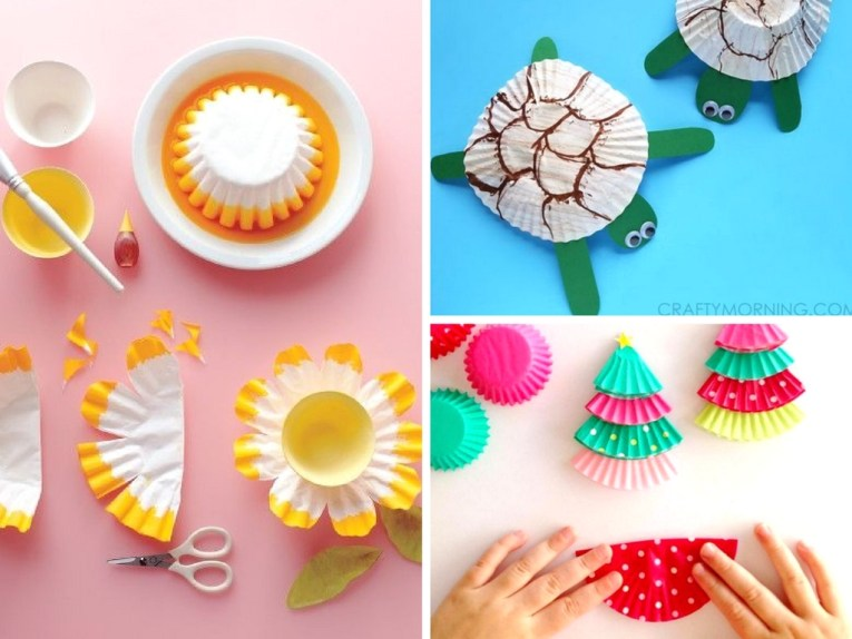 11 Cupcake Liner Crafts That Make Perfect Boredom Busters