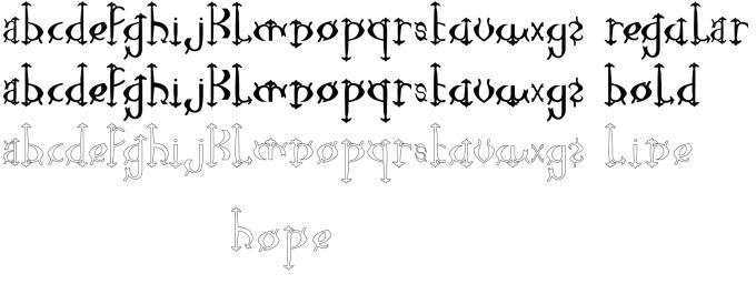 Lower case font