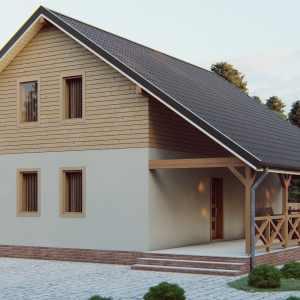 Строительство каркасного дома по проекту Зубра K001