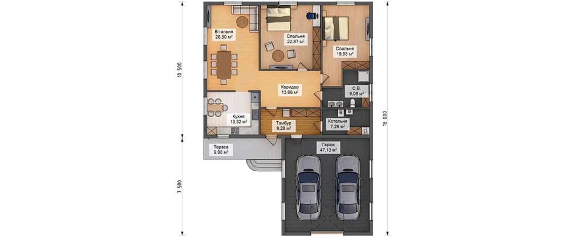 Строительство каркасный дом Миннесота K014 под ключ