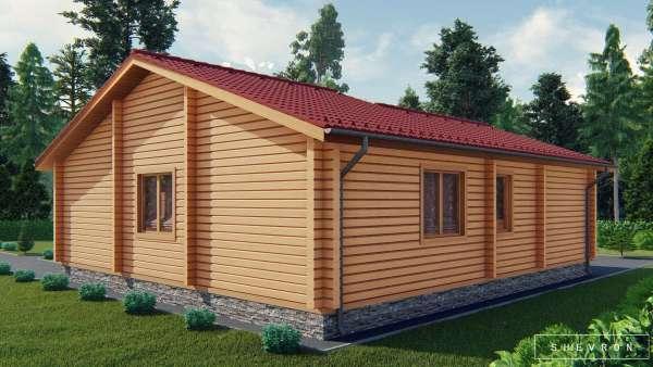 Строительство деревянного дома по проекту Витониж D015