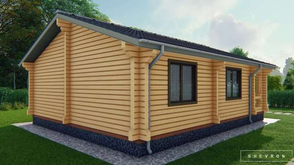 Строительство деревянного дома по проекту Владимир D017
