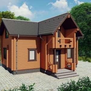 Строительство деревянного дома по проекту Ворохта D018