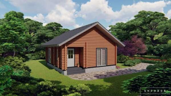 Строительство деревянного дома по проекту Днестр D020