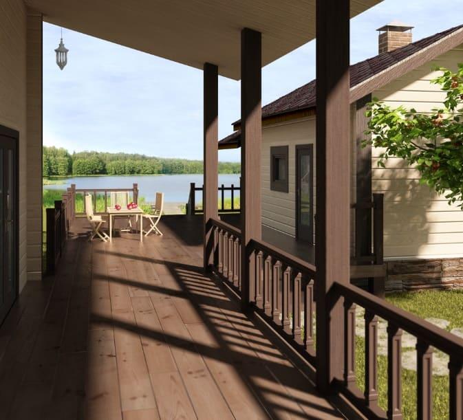 терраса, строительство деревянных домов, дом из брусадеревянный дом под ключ
