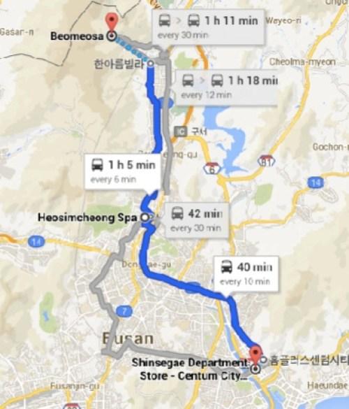 North Busan Map