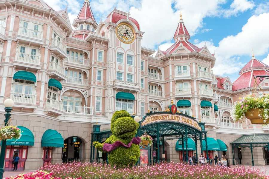 Entrance of Disneyland Park in Paris