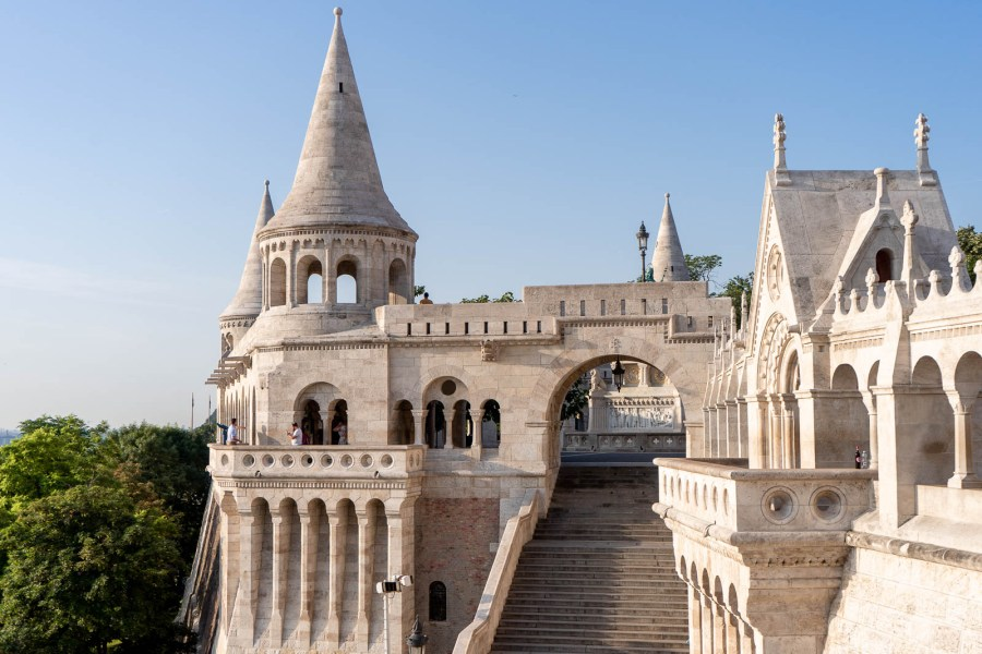The fairytale looking Fisherman's Bastion in Budapest, Hungary