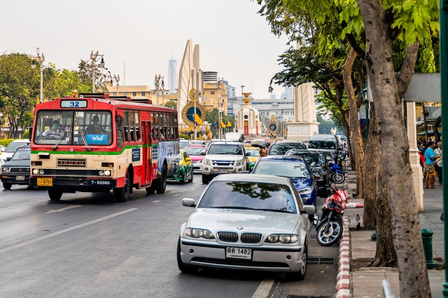 Busy street in Bangkok, Thailand