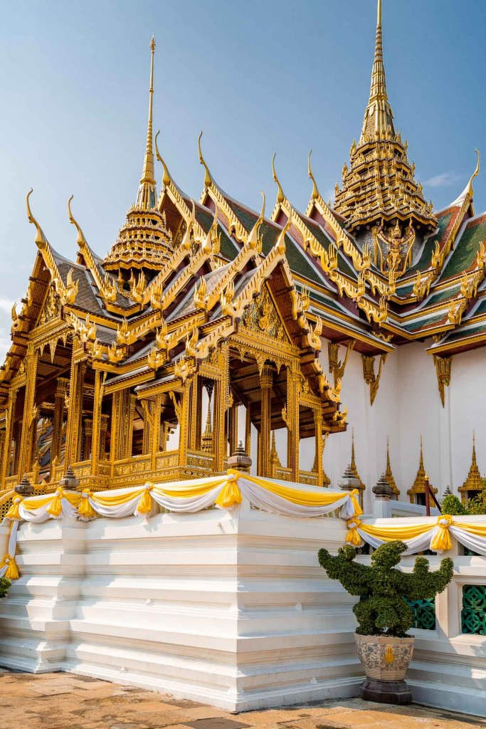 Beautiful golden building in the Grand Palace in Bangkok
