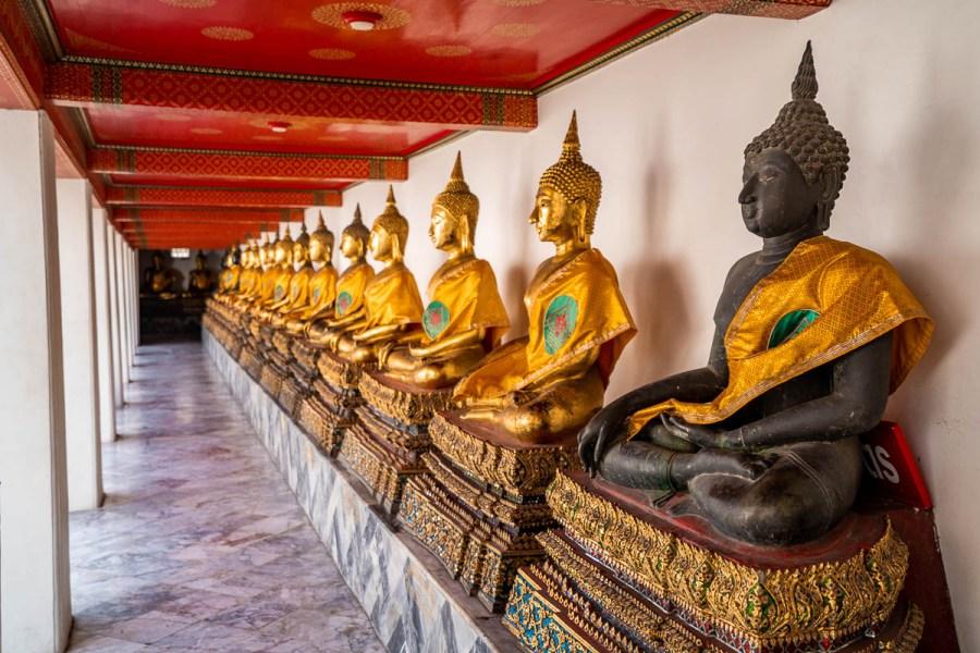 Buddha statues at Wat Pho in Bangkok