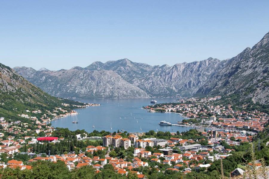 Beautiful view of Kotor bay in Kotor, Montenegro
