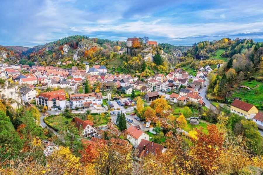 Autumn scenery in Pottenstein, Germany