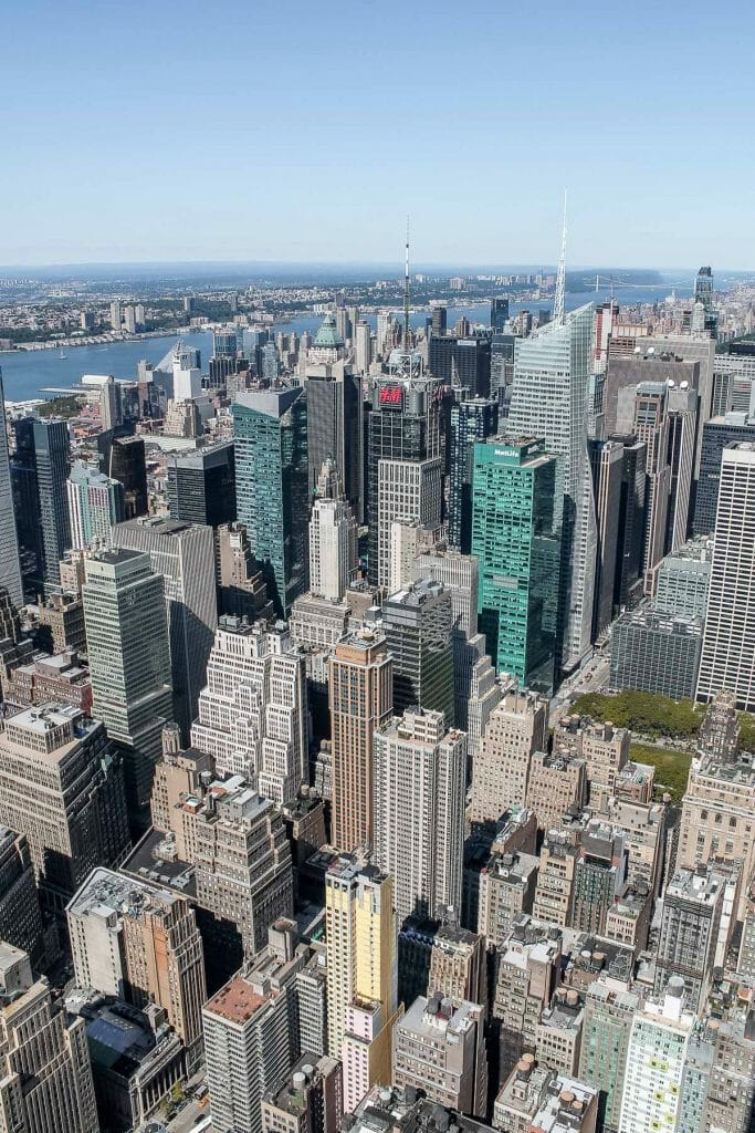 View of the New York City Skyline from the Empire State Building