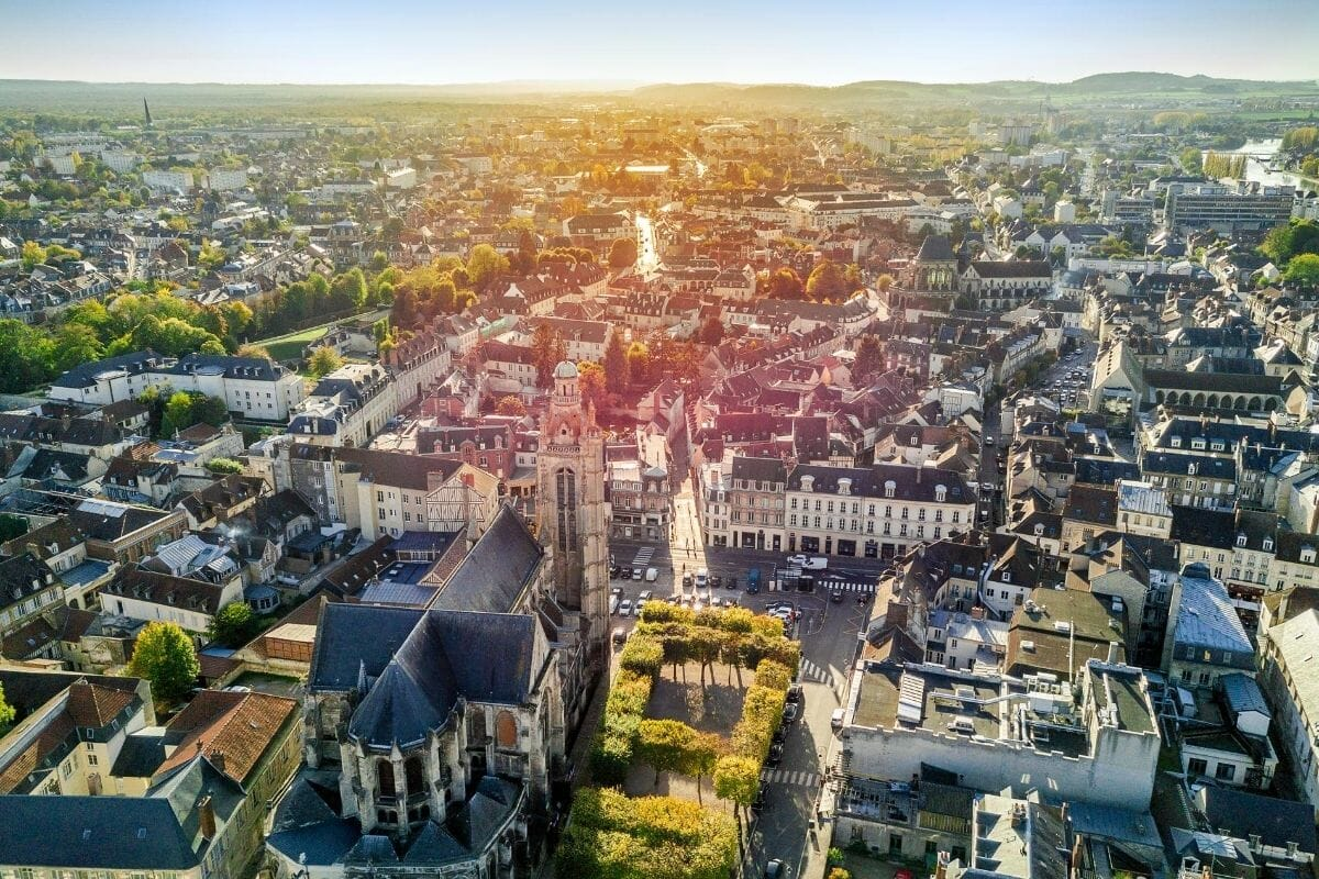 Aerial view of Compiegne, France