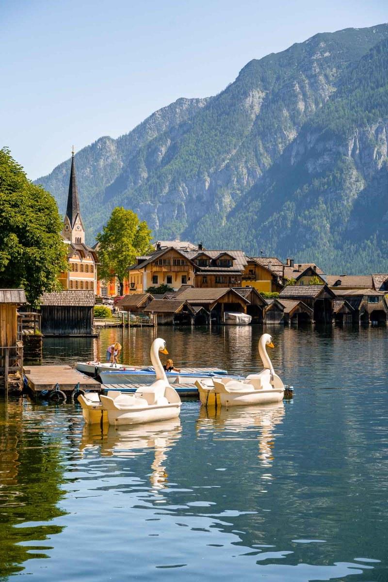 Boats in Hallstatt, Austria