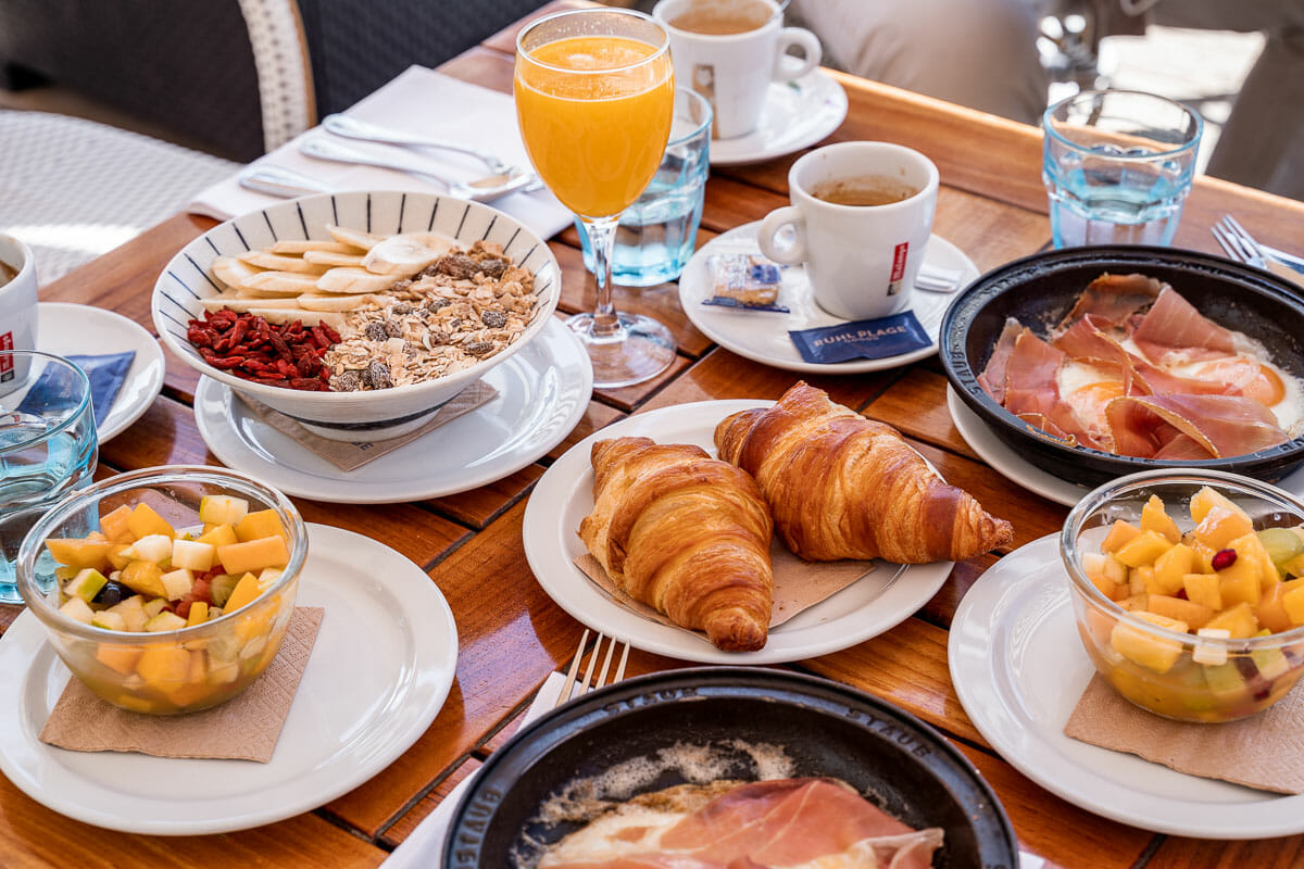 Breakfast at Ruhl Plage in Nice, France