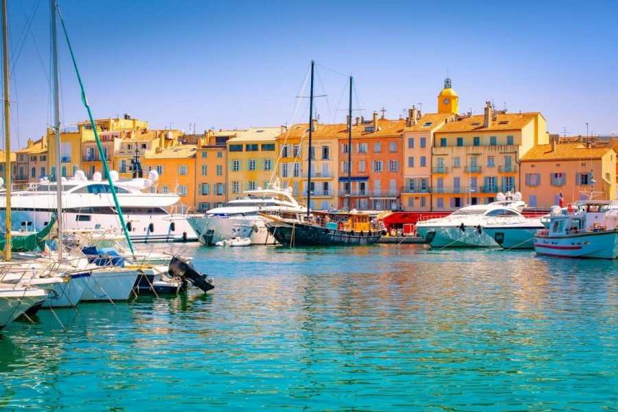 Colorful houses in Saint Tropez, France