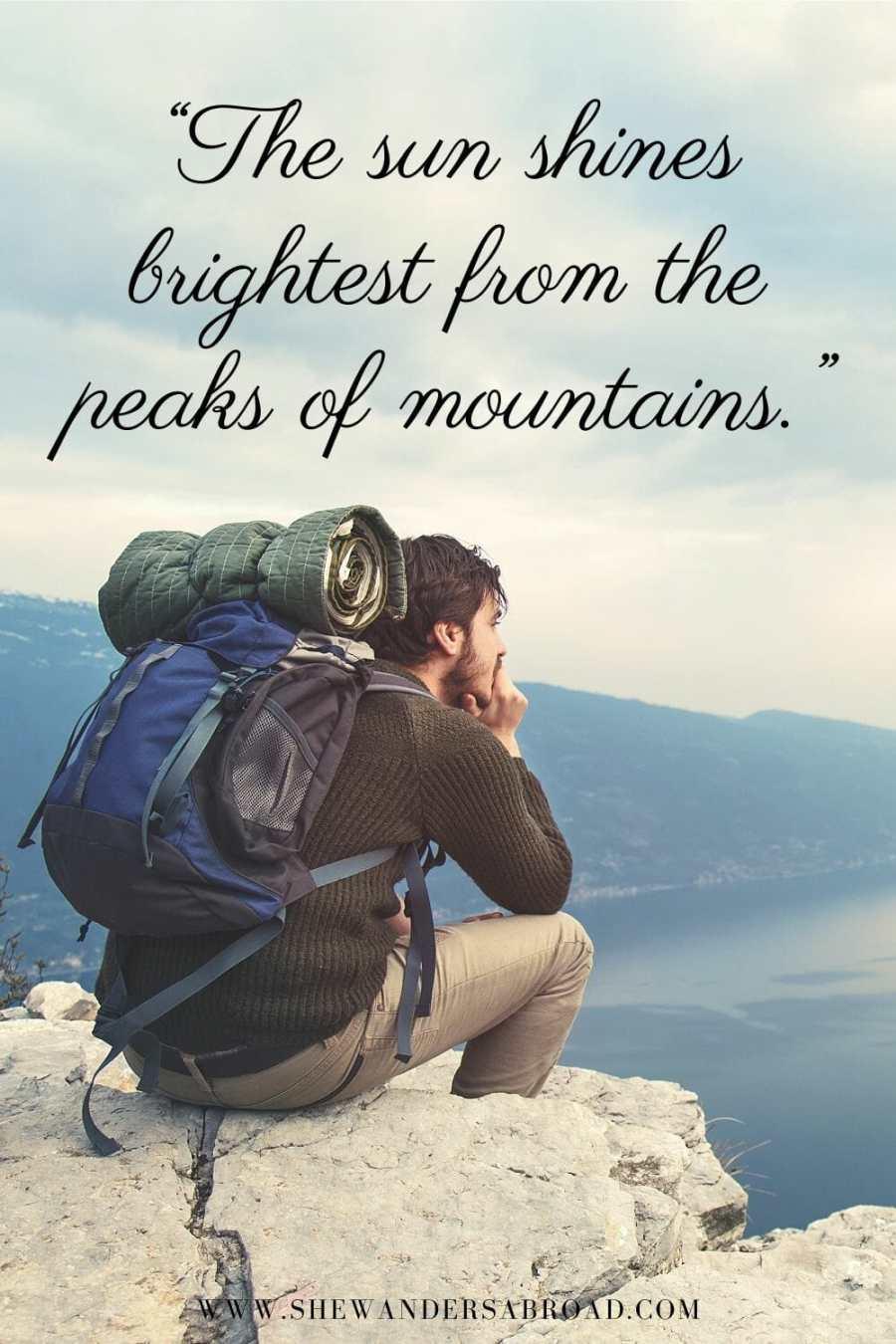 Mountain top quotes