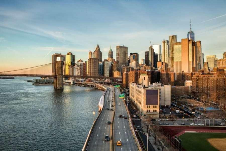 Panoramic view of the NYC skyline