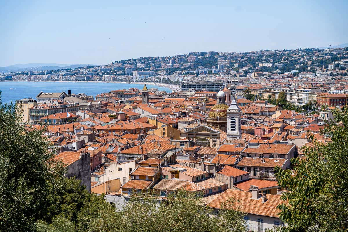 Panoramic view of Nice, France