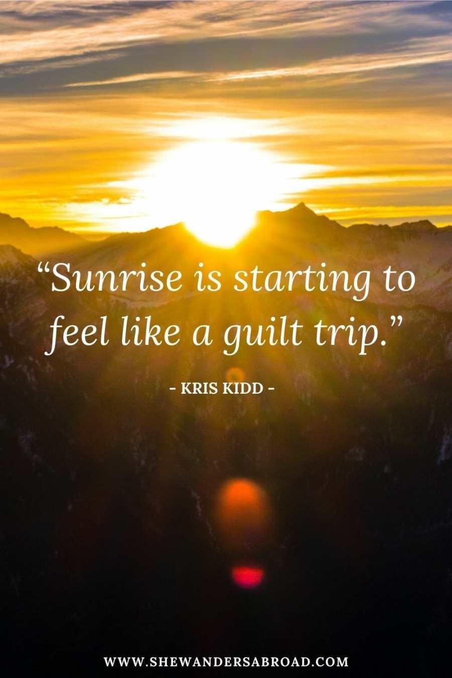Funny sunrise captions for Instagram