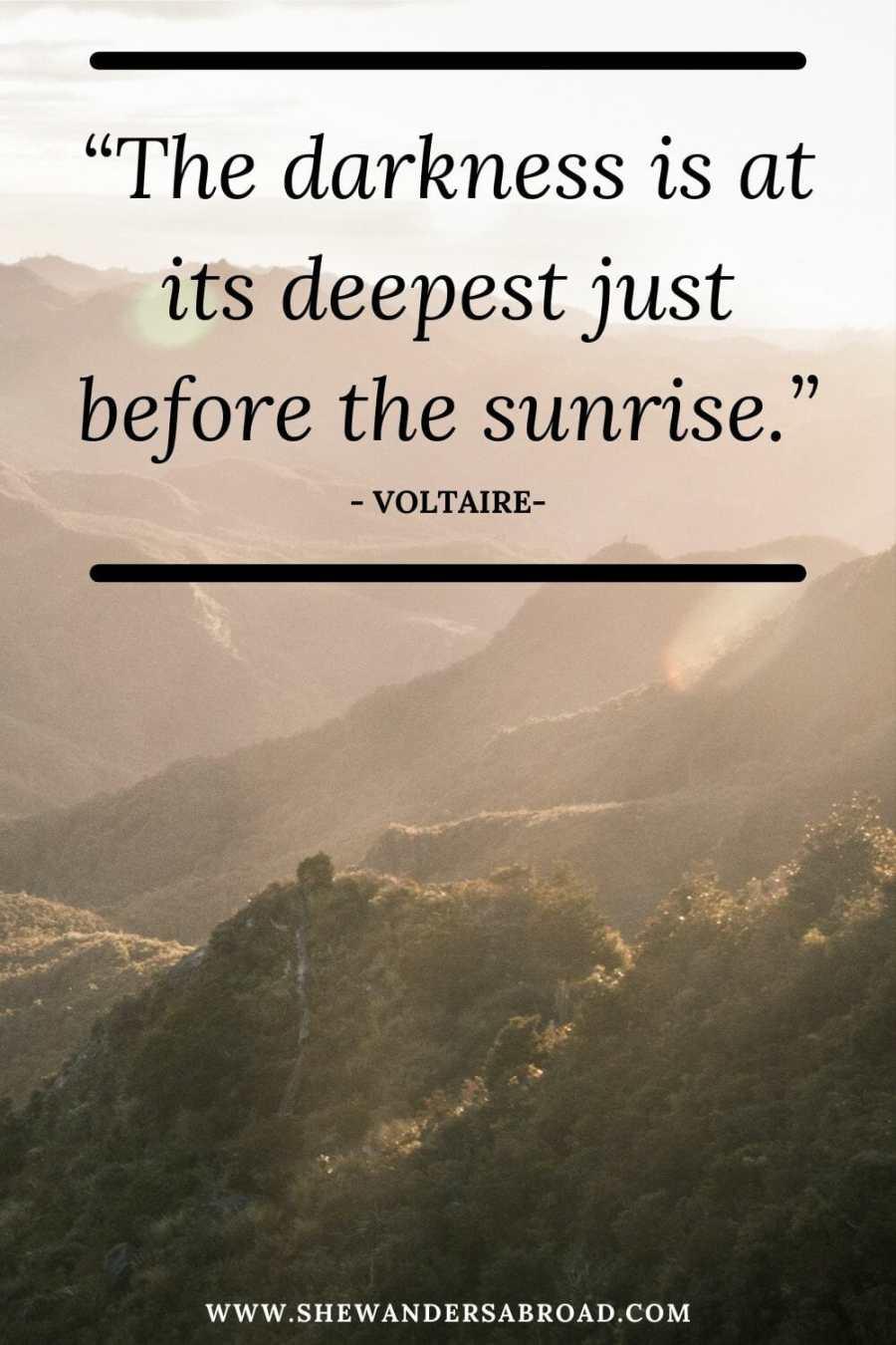 Short sunrise quotes for Instagram