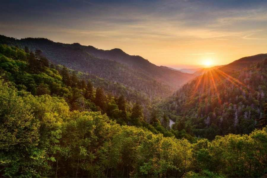 Sunset at the Great Smoky Mountains, USA