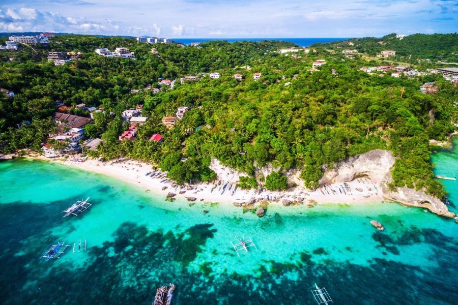Aerial view of Boracay, Philippines