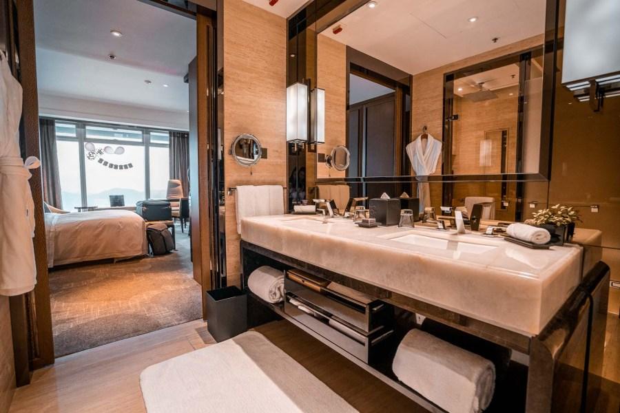 Bathroom in the Ritz Carlton Hong Kong