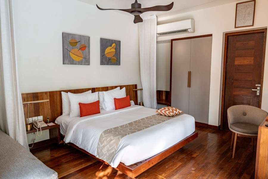 Bedroom in our private pool villa at Templation Siem Reap