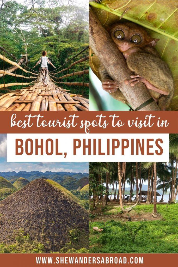 Bohol Tourist Spot Map