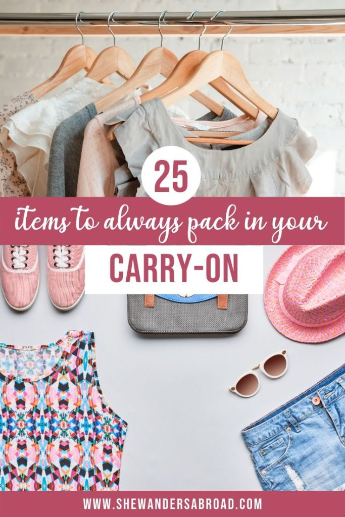 25 Carry-On Essentials That You Should Never Travel Without