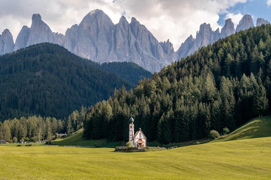 Church of St. John in Ranui in Val di Funes, Dolomites