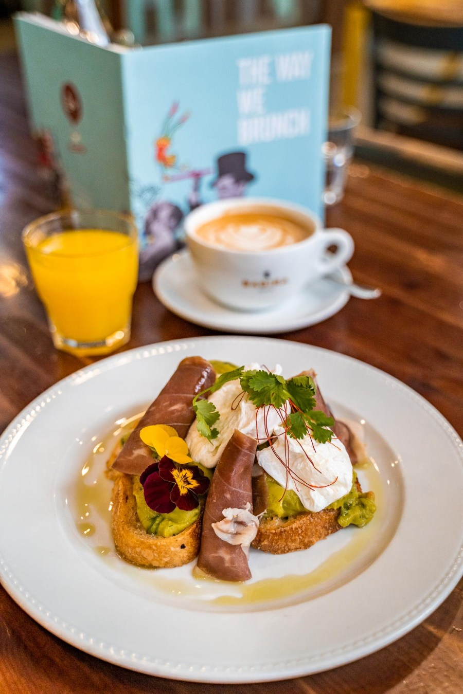 Breakfast at Cirkusz Cafe in Budapest