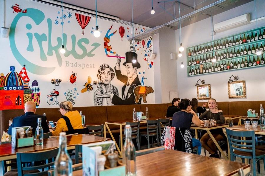 Interior at Cirkusz Cafe in Budapest