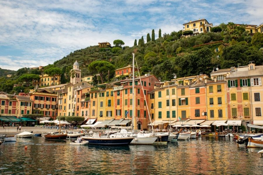 Colorful houses in Portofino, Italy
