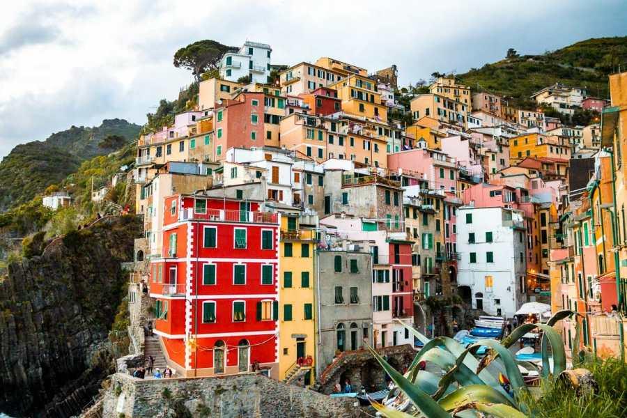 Colorful houses in Riomaggiore, Cinque Terre, Italy