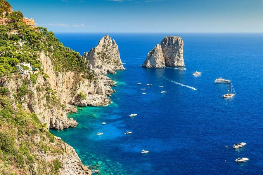 Faraglioni Cliffs in Capri, Italy