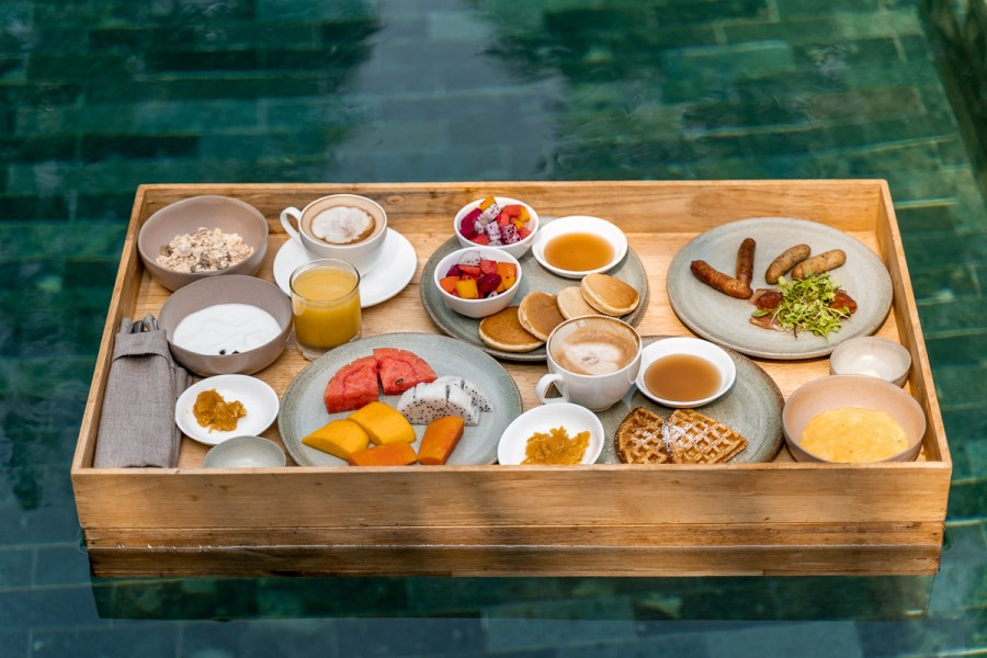 Floating breakfast at Templation Siem Reap