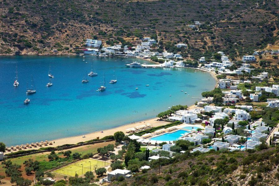 Gialos Beach in Sifnos, Greece
