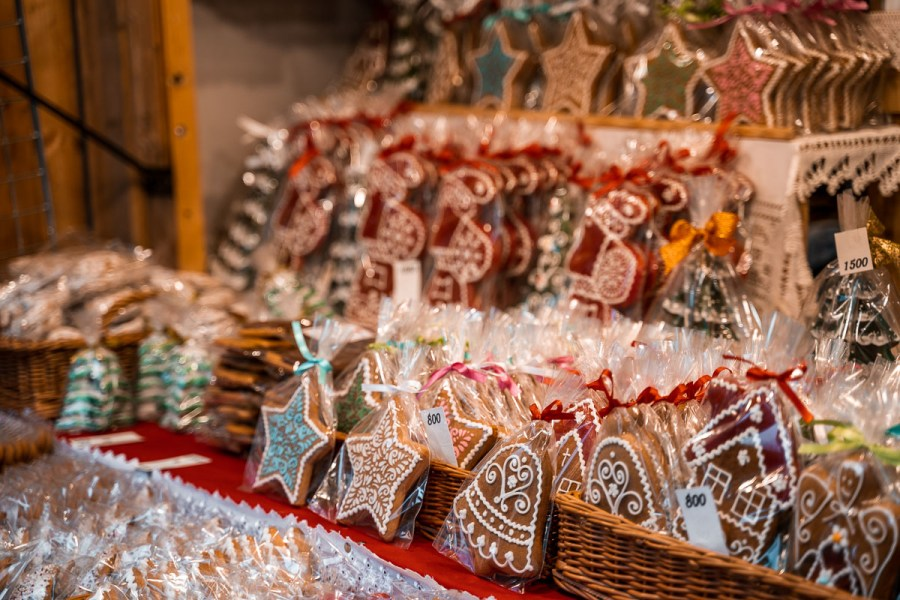 Gingerbreads at the Christmas markets in Budapest
