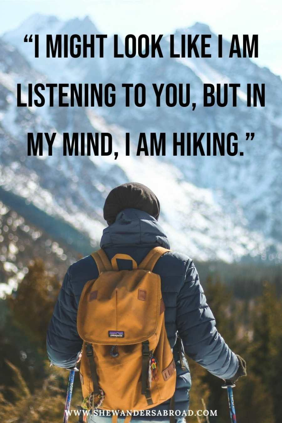 Funny hiking captions for Instagram