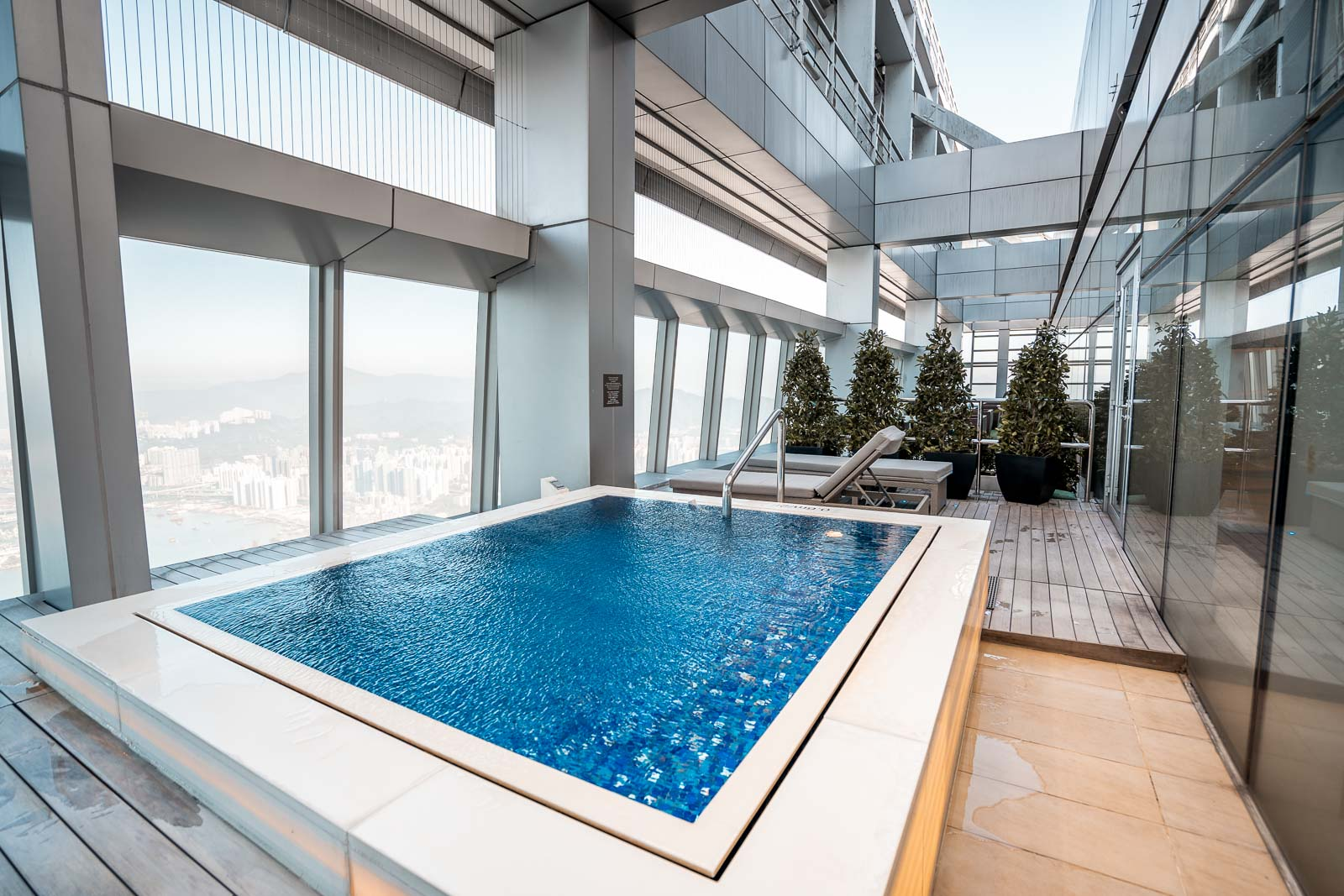 Hot tub on the terrace