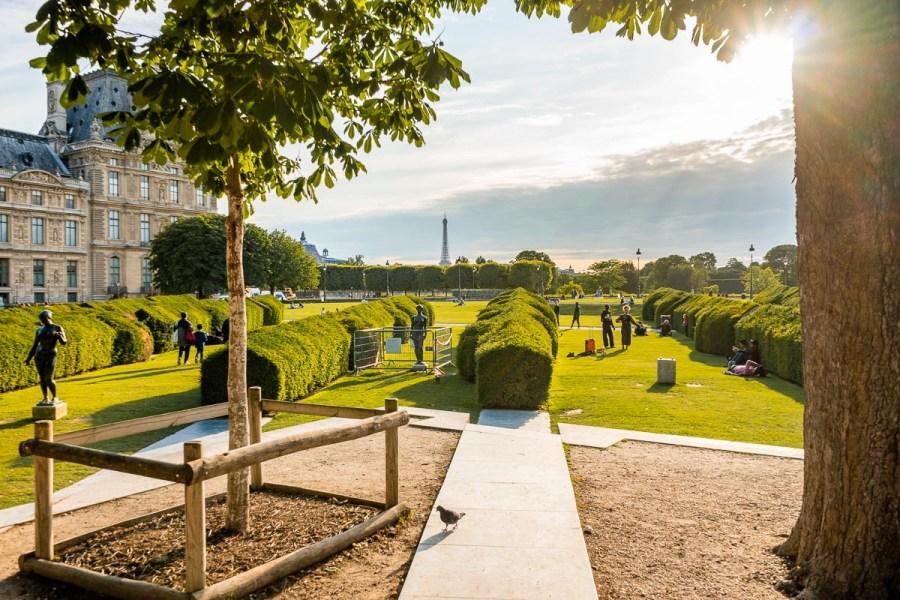 Jardins de Tuileries in Paris