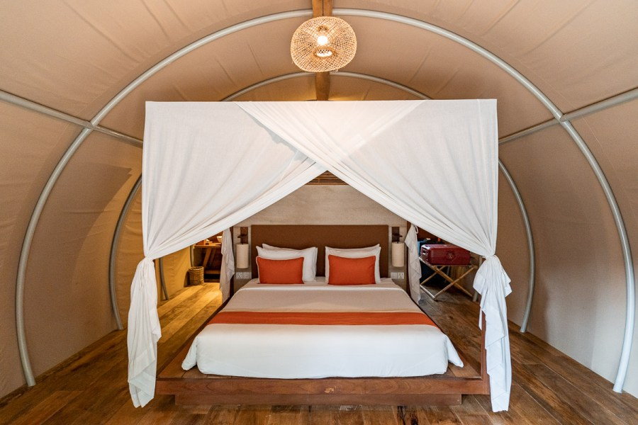 Bedroom in the Jungloo at Templation Siem Reap