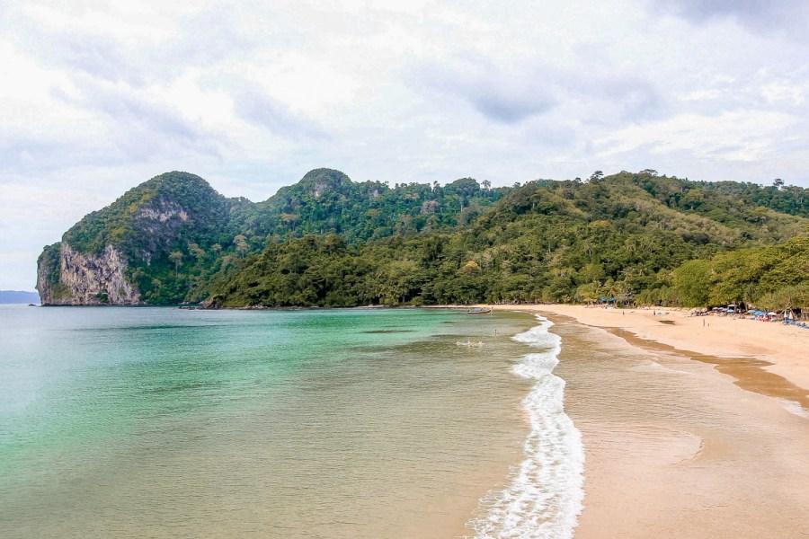 White sandy beach on Koh Mook island in Thailand