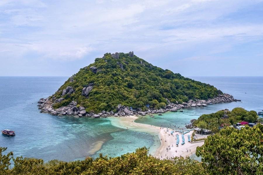 The island of Koh Nang Yuan in Thailand