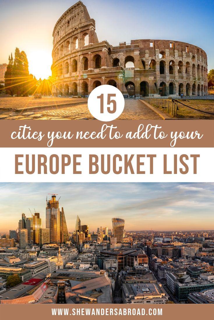 Europe Bucket List: 15 Most Beautiful Cities in Europe