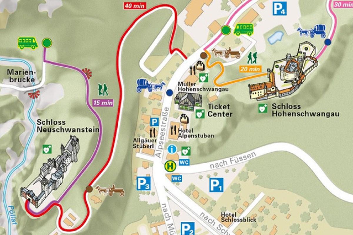 Neuschwanstein Castle Map